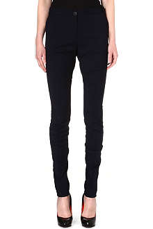 ANGLOMANIA Bent wool-blend trousers