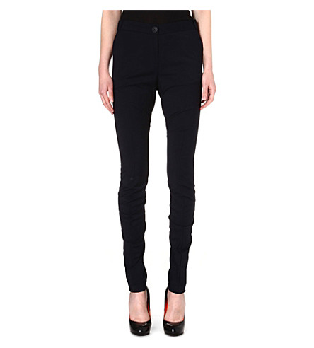 ANGLOMANIA Bent wool-blend trousers (Navy