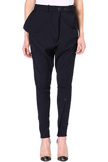 ANGLOMANIA Tapered crepe trousers