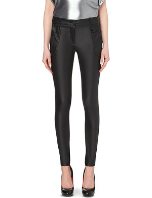 ANGLOMANIA Skinny wet-look trousers