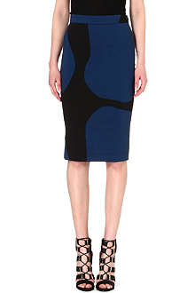 ANGLOMANIA Basic crepe pencil skirt