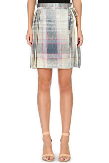 ANGLOMANIA Faded tartan print kilt skirt