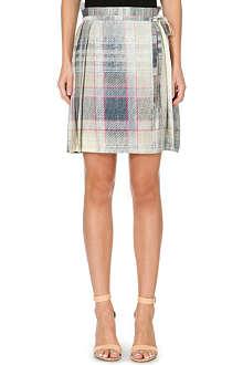 ANGLOMANIA Faded tartan print kilt skirt