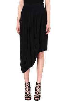 ANGLOMANIA Hunter draped crepe skirt