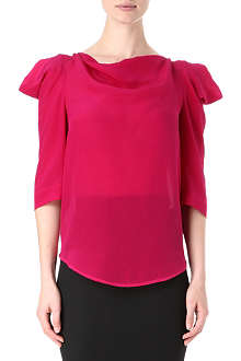 ANGLOMANIA Silk titan 3/4 sleeve top