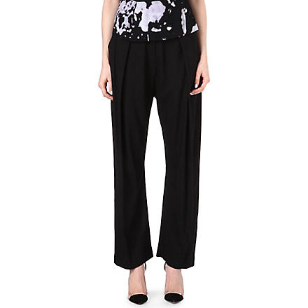 ANGLOMANIA Realm wide-leg trousers (Black