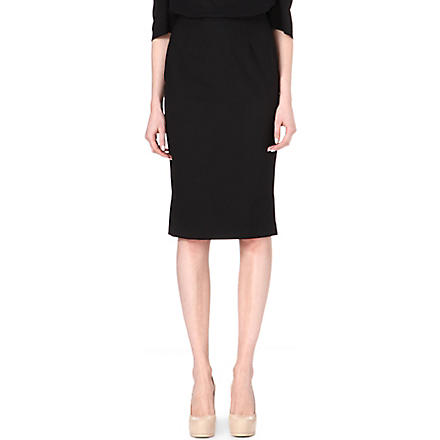 ANGLOMANIA Basic pencil skirt (Black