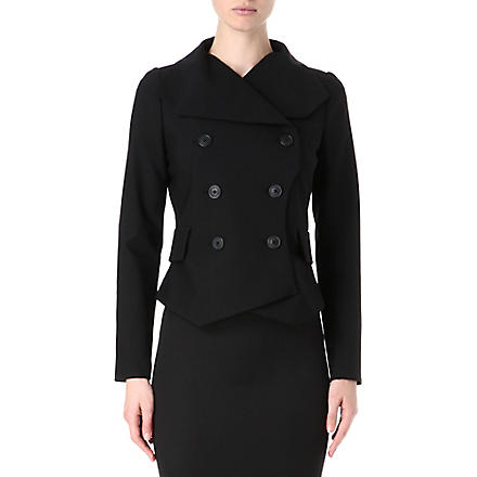 ANGLOMANIA Wallace double-breasted jacket (Black