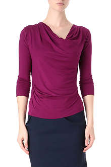 ANGLOMANIA Draped jersey pax top