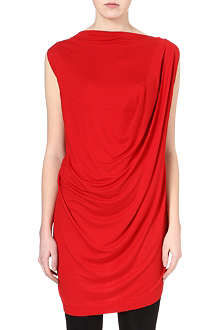ANGLOMANIA Luna draped jersey top
