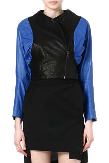ANGLOMANIA Pier Point leather jacket