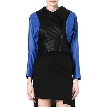 ANGLOMANIA Pier Point leather jacket (Cobalt