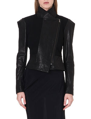 ANGLOMANIA Structured leather jacket