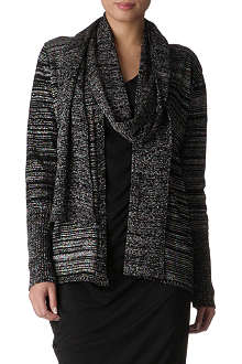 ANGLOMANIA Knitted wrap scarf cardigan