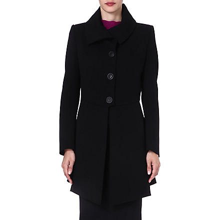 ANGLOMANIA Imperial crepe coat (Black