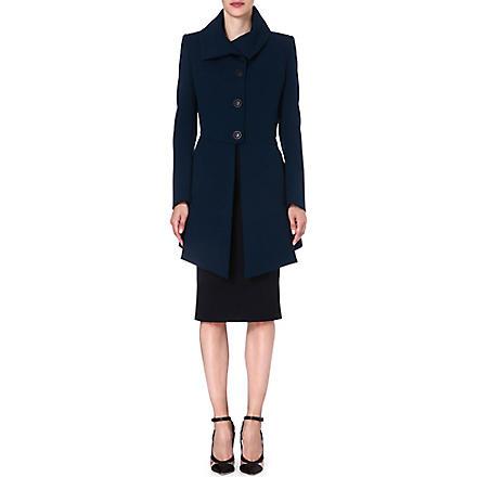 ANGLOMANIA Imperial crepe coat (Petrol