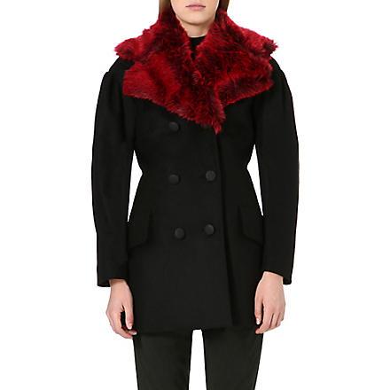 ANGLOMANIA Wool-blend coat (Black