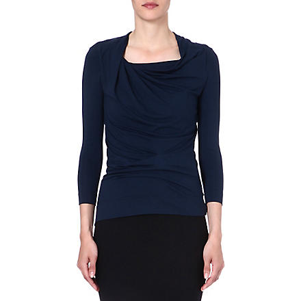 ANGLOMANIA Fracture draped top (Petrol