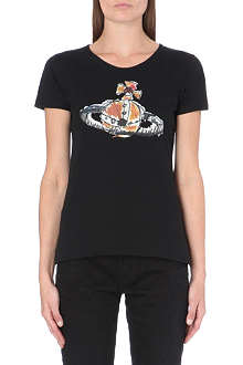ANGLOMANIA Embroidered orb t-shirt