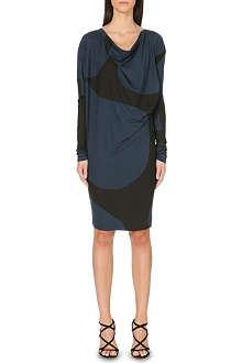 ANGLOMANIA Stripe-print tunic dress