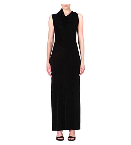 ANGLOMANIA Mosaic flecked maxi dress (Black