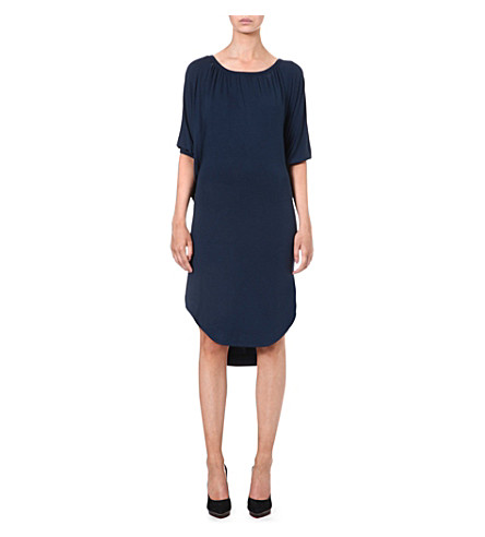 ANGLOMANIA Christo draped jersey dress (Petrol