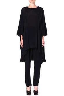 ANGLOMANIA Draped contrast tunic