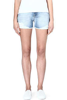 ANGLOMANIA Lovelock bleached denim shorts