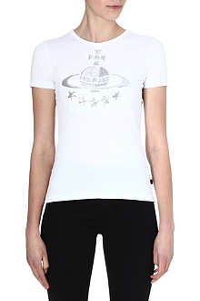 ANGLOMANIA Monday sequin-embellished orb t-shirt
