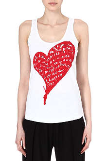 ANGLOMANIA Saturday Gaia Heart cotton vest