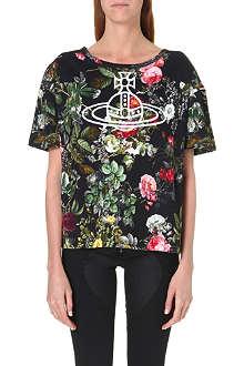 ANGLOMANIA Orb floral-print t-shirt