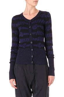 ANGLOMANIA Knotted rope cardigan