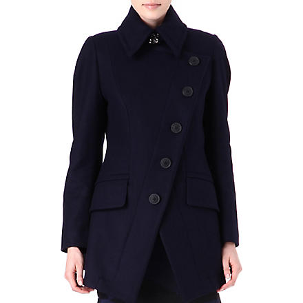 ANGLOMANIA Cloud wool-blend coat (Navy