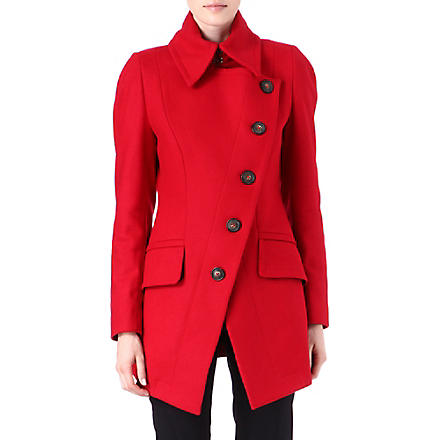 ANGLOMANIA Cloud wool-blend coat (Red
