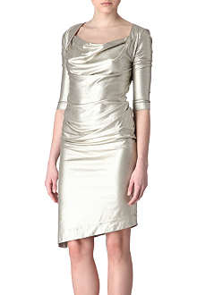 ANGLOMANIA Dahlia metallic dress