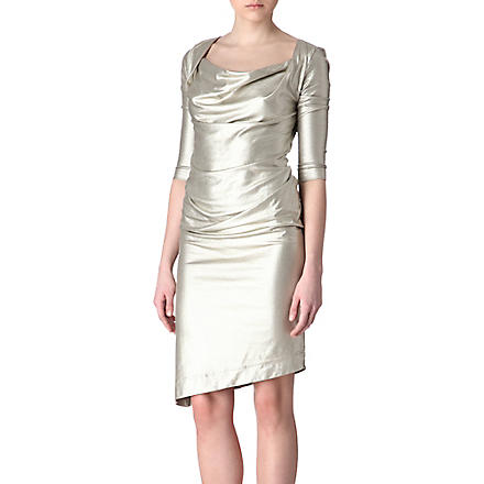 ANGLOMANIA Dahlia metallic dress (Grey:2