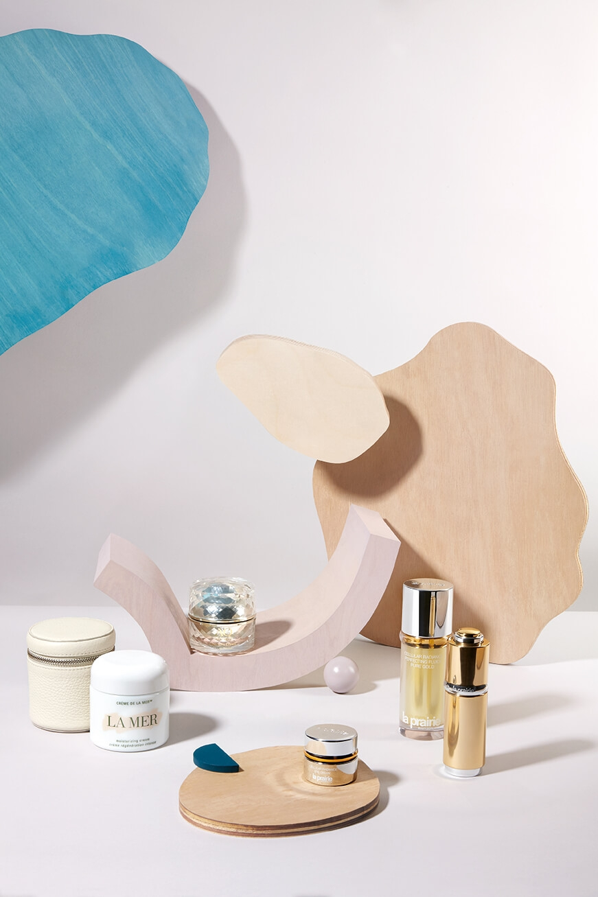 La Mer The Moisturizing Cream with Aspinal of London case, Decorté AQ Meliority Intensive Cream, La Prairie Radiance set