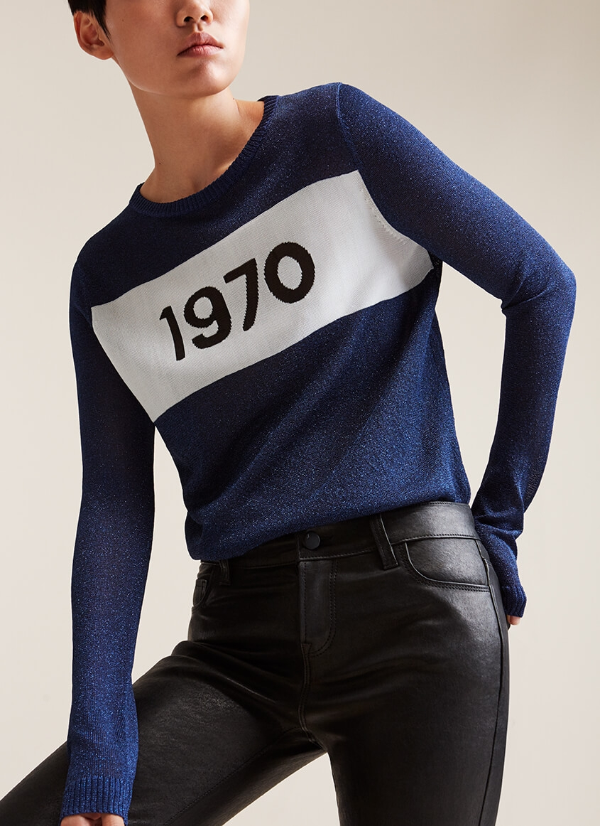 Exclusive Bella Freud 1980 jumper