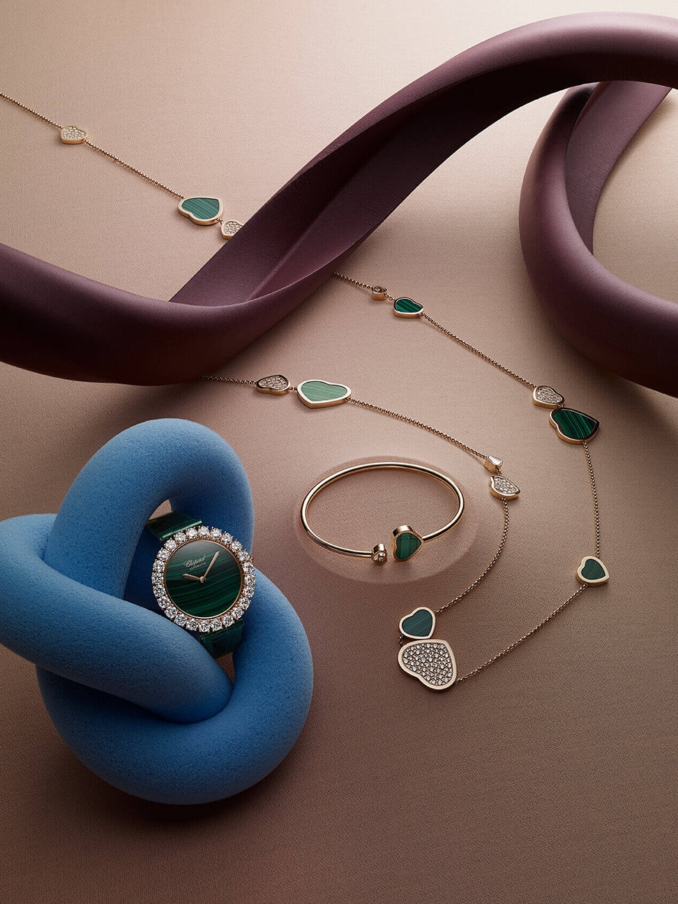 A collection of Chopard jewellery