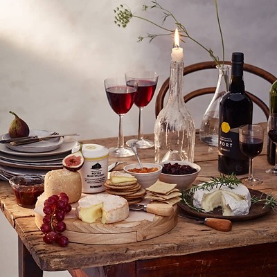 Selfridges cheese and wine hamper