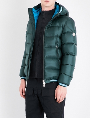 Man wearing a puffer jacket