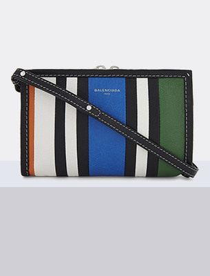 A stripy bag