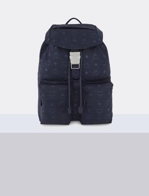 A blue rucksack