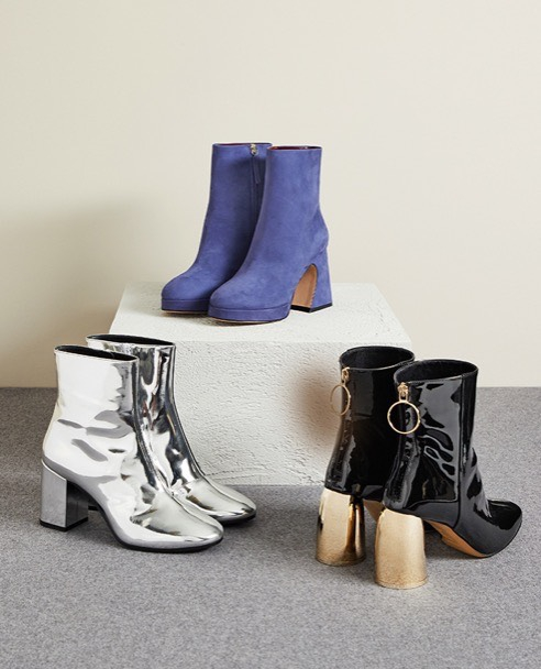 Three pairs of ankle boots