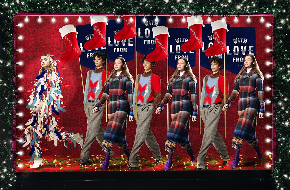 Selfridges Christmas Window Stockings