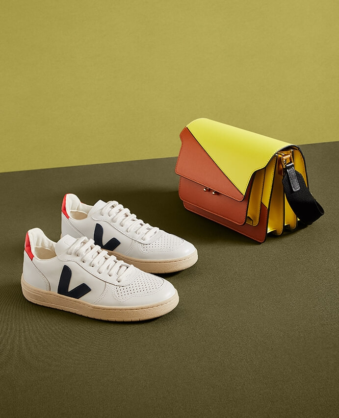 Veja sneakers and a Marni purse
