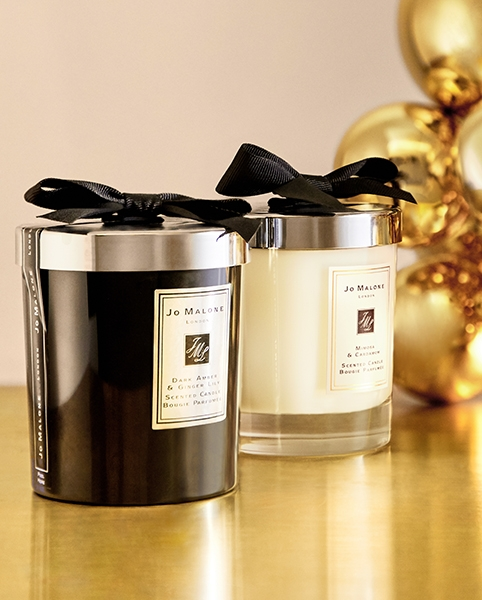 Jo Malone – Dark Amber & Ginger Lily and Mimosa & Cardamom candles