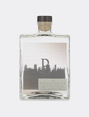 A bottle of luxury gin