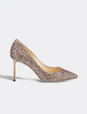 A sparkly Jimmy Choo shoe