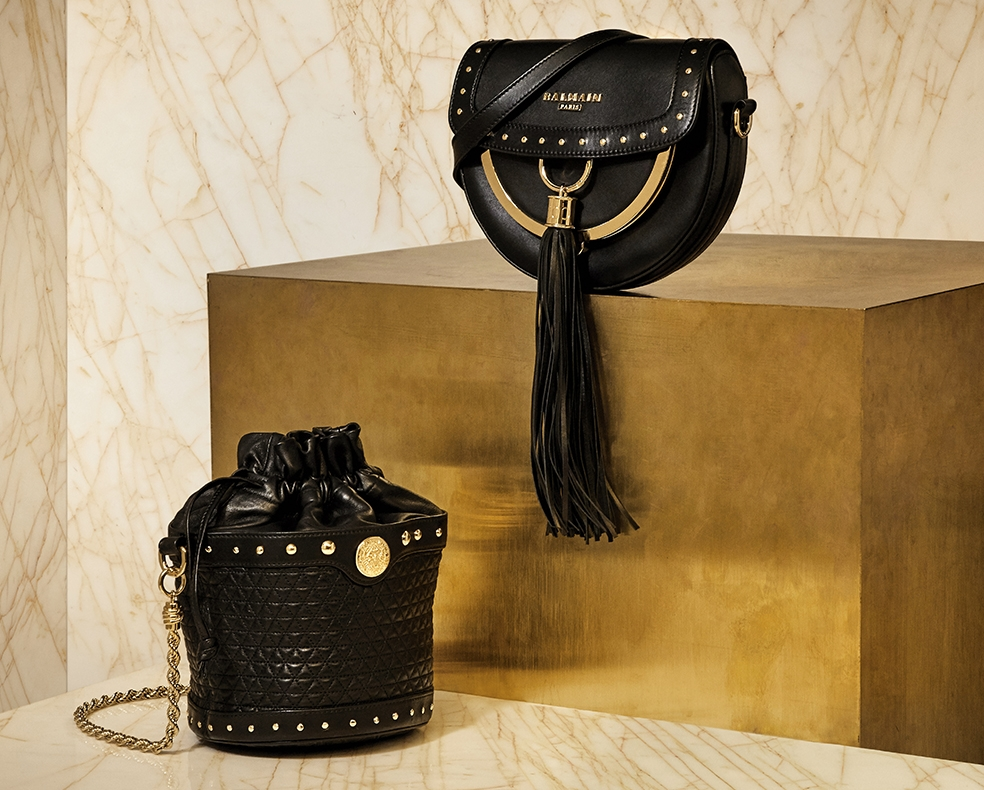 Balmain cross-body bag and bucket bag